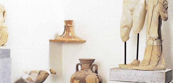 Ancient treasures at the museums of Mykonos, where Semeli Luxury Hotel is located.